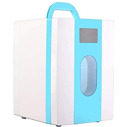 Mini Nevera Eléctrica de 10 L, Refrigerador y Calentador de Nevera, Contenedor Frío Caliente Automático Compacto, Portátil y Silencioso, 12V / 220V, Para Hogar, Dormitorio, Coche, Vacaciones