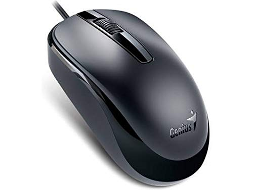Genius Dx-120 Maus (USB, Kabel, Ambidextrös, Büro, Universal) schwarz