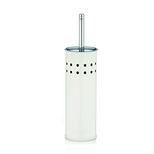 Kela 22523 set porte-brosse WC, métal mat blanc, 'Linda'