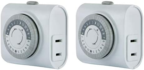 GE Mechanical 2 pack 2 featuring 56177 24 Hour Indoor Basic Timer 1 Polarized Outlet Plug In product image