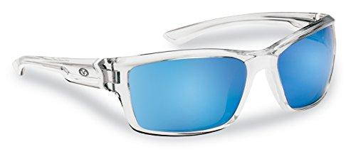 Flying Fisherman Cove - Gafas de sol polarizadas con bloqueador UV AcuTint, para pesca y deportes al aire libre - SS-SMS-4002801, Marcos de cristal/Lentes de espejo azul ahumado