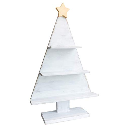 PXX Desktop Shelf/Creative Solid Wood Window Christmas Tree Storage Display Stand/Display Rack Shop Decoration