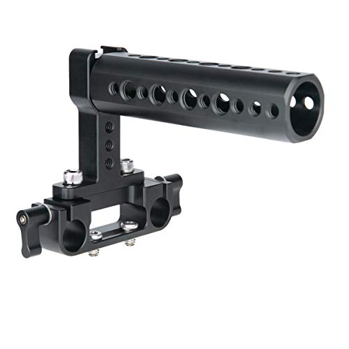 NICEYRIG GH5 GH4 Camera Top Handle with 15mm Rod Clamp, Applicable for Shoulder Support System/Rig Cage - 327