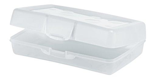 Storex Pencil Case, 8.38 x 5.63 x 2.5 Inches, Clear, Box of 12 (STX61622U12C)