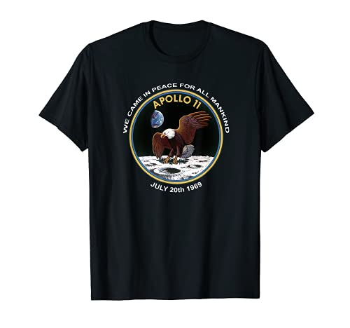 NASA Apollo 11 Patch We Came In Peace Moon Landing T-Shirt