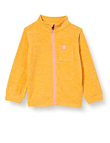 Color Kids Mini Fleece Jacket Melange Chaqueta de Forro Polar, Amarillo cadmio, 80 cm Unisex niños