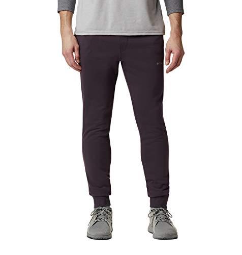 Columbia Fleece Jogger, M CSC Logo II Pantaloni da Tuta Uomo, Dark Purple, Shale Purple, XXL
