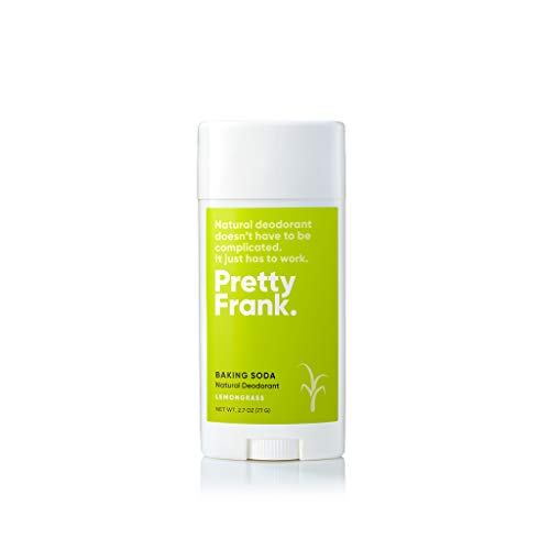Pretty Frank Deodorant Stick - Natural Deodorant for Women, Men, Teens, & Kids - Aluminum Free, Free of Parabens & Sulfates, Gluten Free, Vegan, Cruelty Free, Non-GMO - Lemongrass