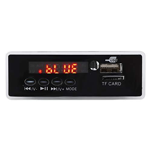 Placa decodificadora de MP3 Bluetooth, módulo de decodificación AUX de 12V Grabación de llamadas sin pérdida WMA/WAV/FLAC/APE Decodificador de música compatible con tarjeta USB/tarjeta de memoria