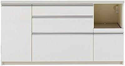 パモウナ 食器棚 幅160×高さ85×奥行45 日本製 WLR-S1600R下台
