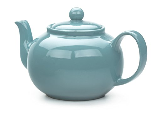 RSVP Large Stoneware 6-Cup Teapot, Turquoise