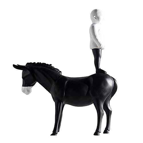 Jongen Op Ezel Statues Sculptures Decorative,Schattige Personages En Dieren Creatief Decoration Figures,statue Resin…