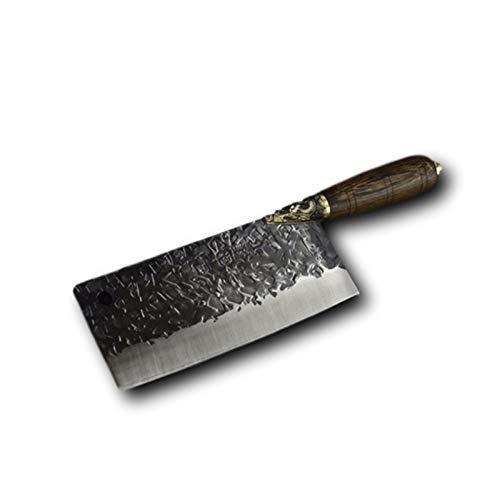 Cuchillo del cocinero Cuchillos de cocina conjunto corte en rodajas helicóptero santoku cuchillo cocinero chino hecho a mano de la carne Cleave Cortador de verduras herramientas de cocina