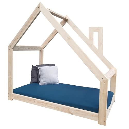 NeedSleep - Cama infantil (90 x 180 cm, con chimenea, sin protección anticaídas), 70 x 140 cm, 80 x 160 cm, 90 x 180 cm, diseño escandinavo, para niñas y niños