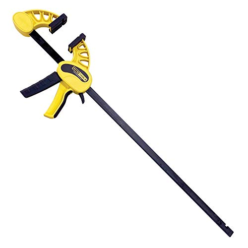 MITIE TOOLS 24 inch Bar Clamp/Spreader for Woodworking. Professional Clamp or Spreader. Heavy Duty, Quickly Adjusts to Spreader. Induction Hardened Rail. Ergonomic One Handed Grip. 400lbs/1800N Force