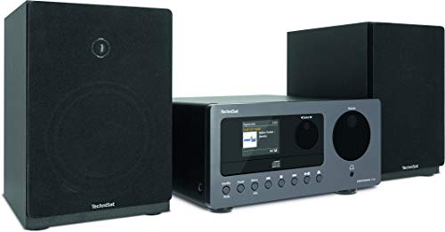 TechniSat DIGITRADIO 700 - Mikro-HiFi System (Internetradio, DAB+, UKW, CD-Player, Bluetooth-Audiostreaming, 40 Watt RMS Stereo-Boxen, Kopfhöreranschluss, Wecker, Sleeptimer, Fernbedienung) schwarz