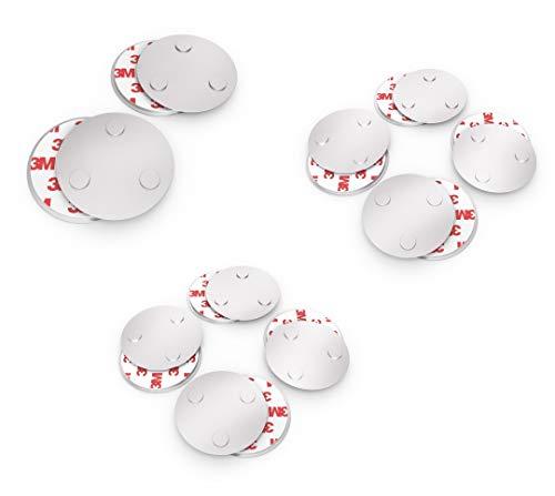 conecto CC50498 Magnethalterung Magnetbefestigung universell magnetisch für Rauchmelder Warnmelder Rauchwarnmelder 10-er Set