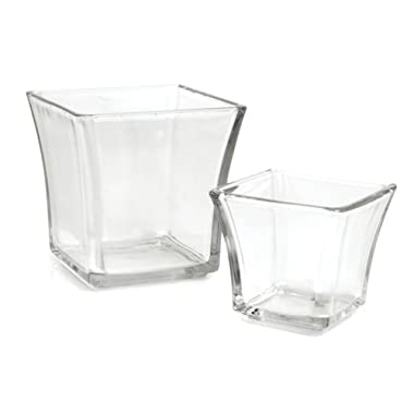 Anchor Hocking 3-Inch Flared Square Votive Candle Holder,Pack of 6