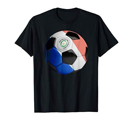 Balón de fútbol de fútbol de bandera de Paraguay Camiseta
