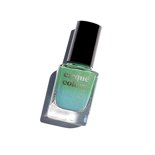 Cirque Colors Thermal Temperature Color Changing Mood Nail Polish - Magic Turquoise - Speckled - 0.37 fl. oz. (11 ml) - Vegan, Cruelty-Free, Non-Toxic Formula