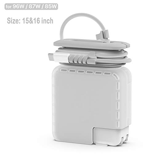 Reise Kabel Organizer Kompatibel mit Apple Macbook Ladegerät, Schutzhülle für Mac Ladekabel Magsafe Type C Netzteil 85W 87W 96W mit Kabelaufwicklung Mac Book Pro 15 16 Zoll