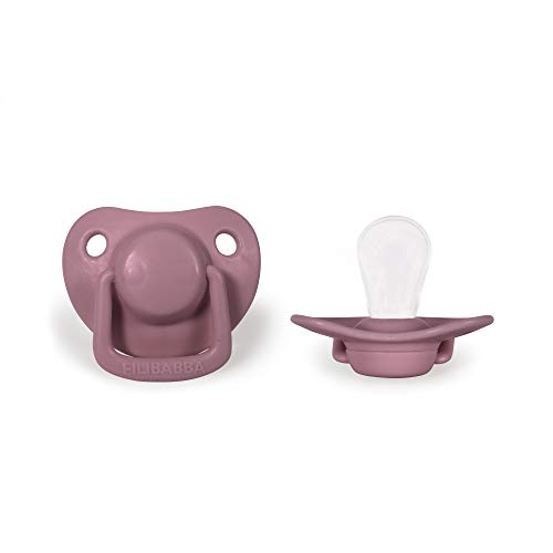 Filibabba® Schnuller 2er Set | Baby Schnuller aus Silikon in schönen matten Farben | Kiefergerechte Schnuller | Dänisches Design | 2 Stück mit Schnuller Box (Dusty Rose, 0-6 Monate)