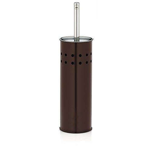 Kela 22522 set porte-brosse WC, métal mat brun, 'Choco'