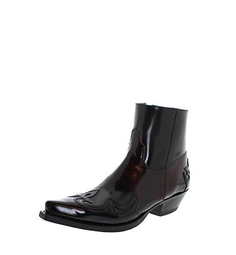 Sendra Boots Samuel 14379 Negro Cherry/Herren Westernstiefelette Schwarz Rot/Cowboystiefelette/Herrenstiefelette, Groesse:42