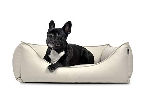 PadsForAll Hundebett, Hundesofa Dreamy Kunstleder in Creme, 3 Größen