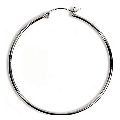 Gemlings Sterling Silber Ohrringe mit Druckknopf für Damen [2 x 14mm]