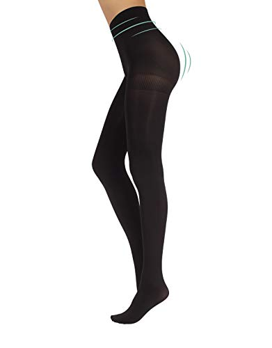 CALZITALY ondoorzichtige figuurvormende panty | Shaping Dames panty | Zwart, Blauw | S, M, L, XL, XXL | 80 DEN | Made in Italy