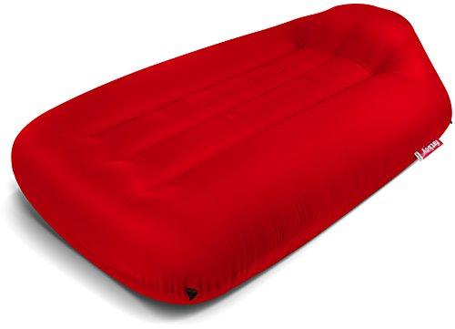 Fatboy® Lamzac L Sofa / Hocker / Sofa Aufblasbar | Rote Hängematte mit Luft gefüllt | für draußen Strand, Garten oder Pool | 195 x 112 x 50 cm