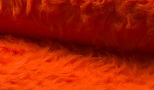 Fabrics-City Flokati - Tela de pelo de peluche, para carnaval, accesorio para fotografía, color naranja, 100 x 150 cm