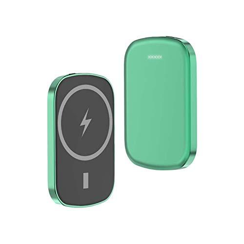 Cargador inalámbrico Banco de energía magnética para iPhone 12 12 Pro MAX 12 Mini 15W Qi Paquete de baterías externas de Carga rápida (Color : Green, Size : 10000mAh)