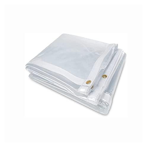 AWSAD Tarpaulin Trasparente, Gazebo Cover Protettiva Pavillon, Anti-UV AntiGraffio, Usato per Piscina, Terrazza, Gazebo, 22 Taglie Personalizzabile (Color : Transparent, Size : 3x3m)