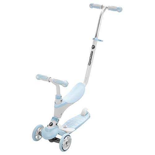 HyperMotion, Kinderroller für die Kleinen, Multifunktionsroller, Kickboard, Tretroller, Kinderscooter für Mädchen und Jungen, Roller mit Sitzgelegenheiten, 5in1, Blau