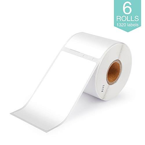 """Markurlife Compatible Label Replaceme for Dymo 30323 Labels 2 1/8"""" x 4"""" LW Adhesive Shipping Tape 54mm x 102mm, Work with 450 Dymo Printer, 450 Turbo, 450 Twin Turbo, 450 Duo, 4XL, 6 Rolls"""