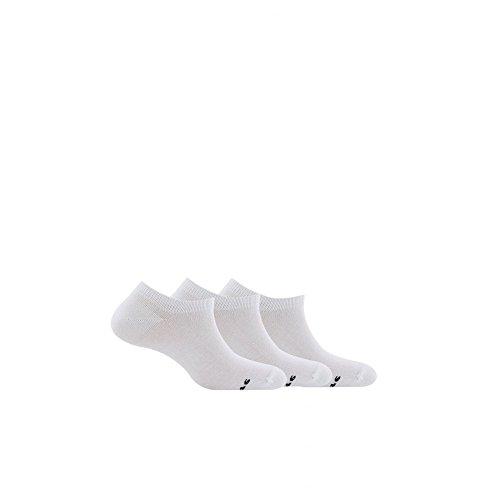 Kindy Socken, unsichtbar, Baumwolle, 3 Stück Gr. 39/42, weiß