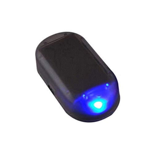 ooege OOE Advertencia Luz Fake Power Power Alarm System System System Security Theft Flash Parpadeando Anti-Robo PRECAUCIÓN LUZ Coche Nuevo (Emitting Color : Blue)