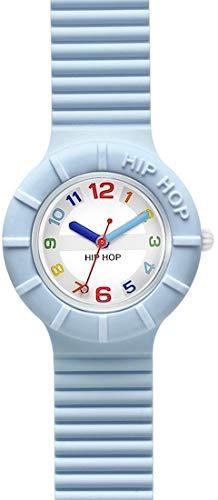 Orologio HIP HOP DONNA NUMBERS COLLECTION quadrante CON LOGO BIANCO movimento SOLO TEMPO - 3H QUARZO e CINTURINO SILICONE AZZURRO HWU0464