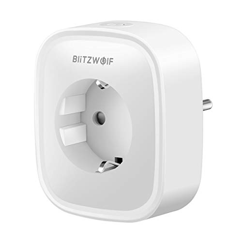 Enchufe Inteligente WiFi, Enchufe WiFi Smart Plug Funciona con Amazon Alexa Control por Voz, Google Home y IFTTT, No Se Require de Hub, Función de Temporización, 1-Pack BlitzWolf