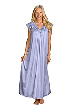 Shadowline Women s Silhouette 53 Inch Short Cap Sleeve Long Gown Peri Frost Large