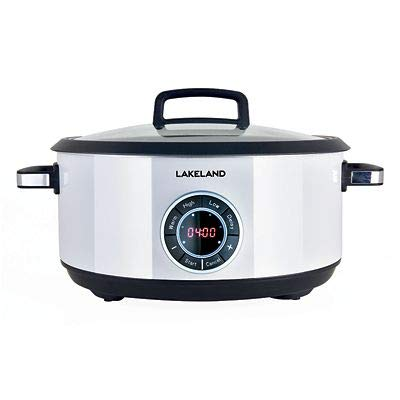 Lakeland Digital Family Sized Slow Cooker 6.5L with 24 Hour Delay Timer
