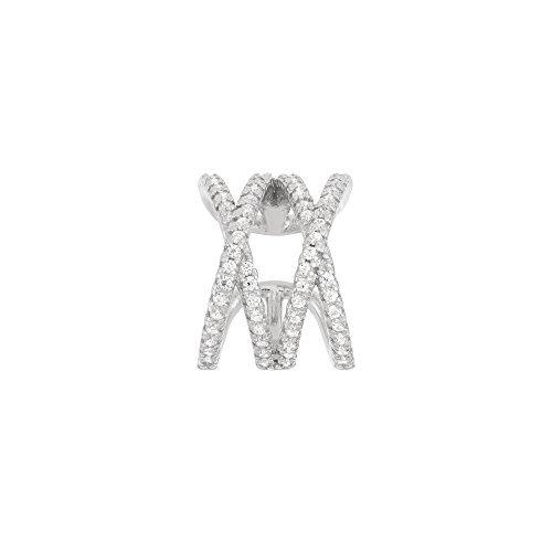 One piece Sterling Silver Zigzag Design Ear Cuff Earring
