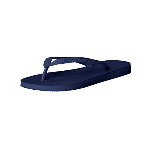Havaianas Women's Slim Crystal Glamour SW Sandal Flip Flop, Navy Blue, 11-12