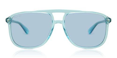 Gucci GG0262S-003 Occhiali da Sole, Blu (Azul/Transparente), 58.0 Uomo