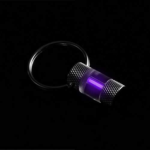 EisEyen Leuchtstoffflasche Metall Schlüsselbund Kette Dekoration für Outdoor-Notleuchte (Lila)
