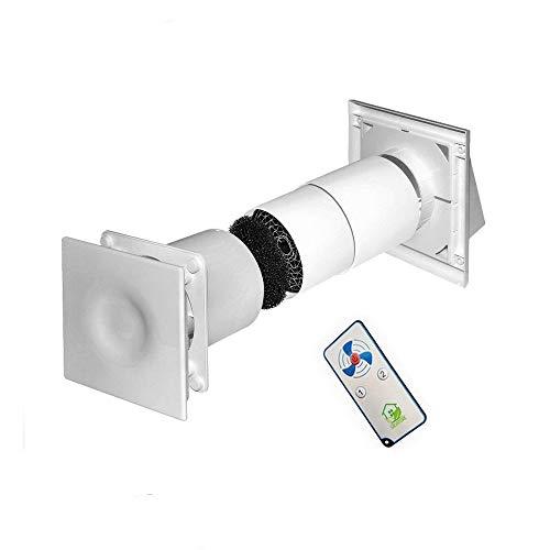 Lüftungsgerät dezentral mit Wärmerückgewinnung Fernbedienung Wohnraumlüftung Ø125