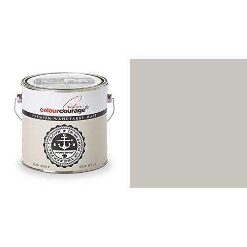 2,5 Liter Colourcourage Premium Wandfarbe Oud Muur Beige Grau | L709449L09 | geruchslos | tropf- und spritzgehemmt