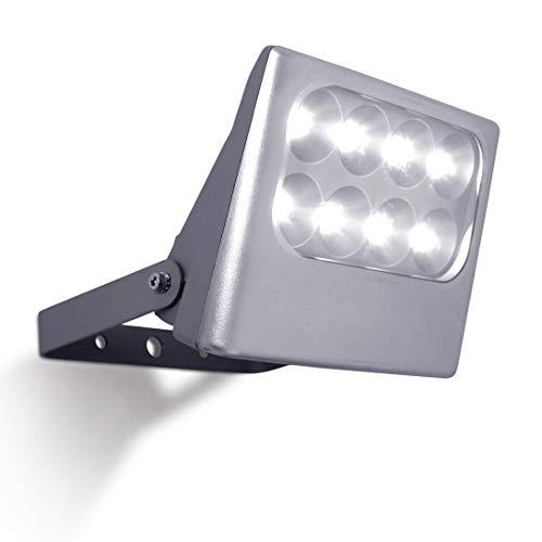 Eco-Light Funktionaler LED-Außenwandstrahler Negara, 1540 lm, 24 Watt, Silber für kräftiges, Helles Licht für Eine Großflächige Ausleuchtung. Perfekter Flächenstrahler, Witterungsbeständig